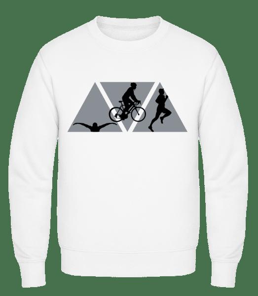 Triathlon - Classic Set-In Sweatshirt - White - Vorn