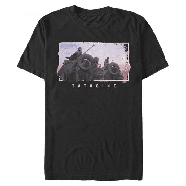 MandoMon Epi Hidden Tatooine - Star Wars Mandalorian - Men's T-Shirt - Black - Front