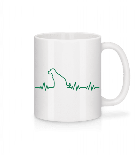 Heartbeat Dog - Mug - White - Vorn