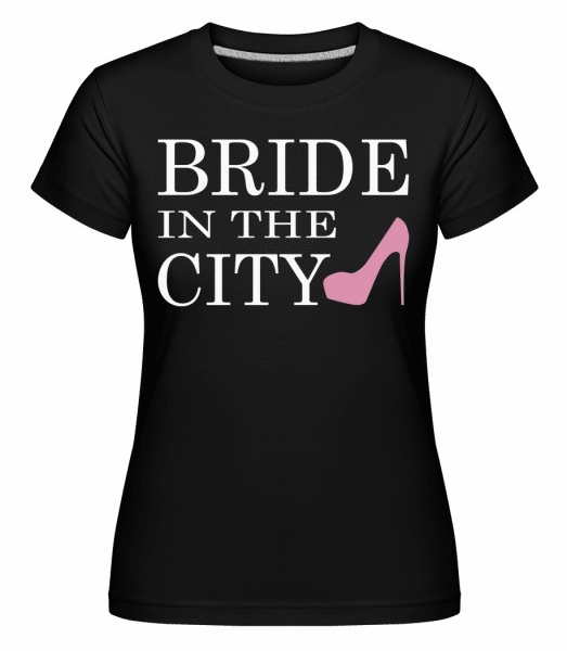 Bride In The City -  Shirtinator Women's T-Shirt - Black - Front