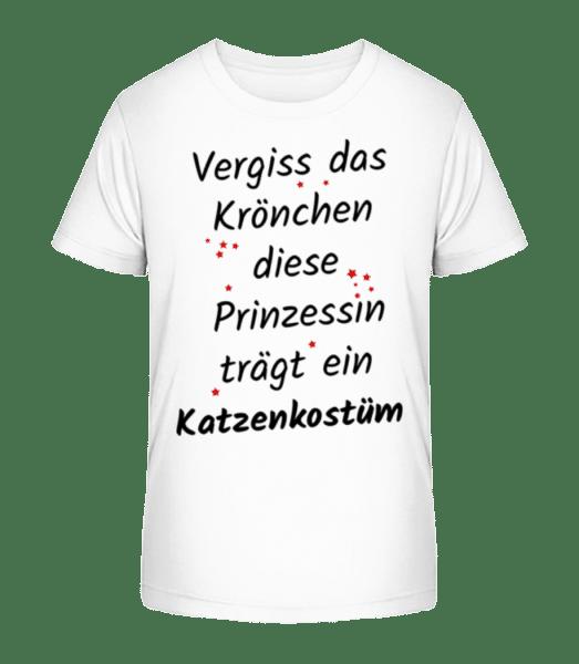 Prinzessin Trägt Katzenkostüm - Kinder Premium Bio T-Shirt - Weiß - Vorn