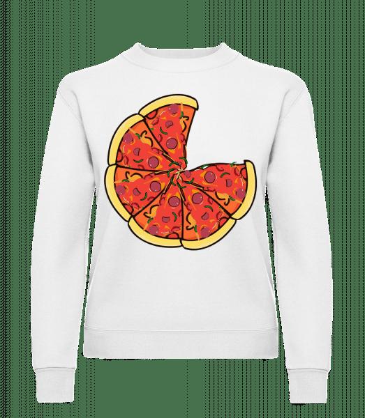 Pizza - Women's Sweatshirt - White - Vorn
