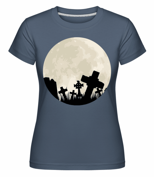 Gothic Scenery Circle -  Shirtinator Women's T-Shirt - Denim - Vorn