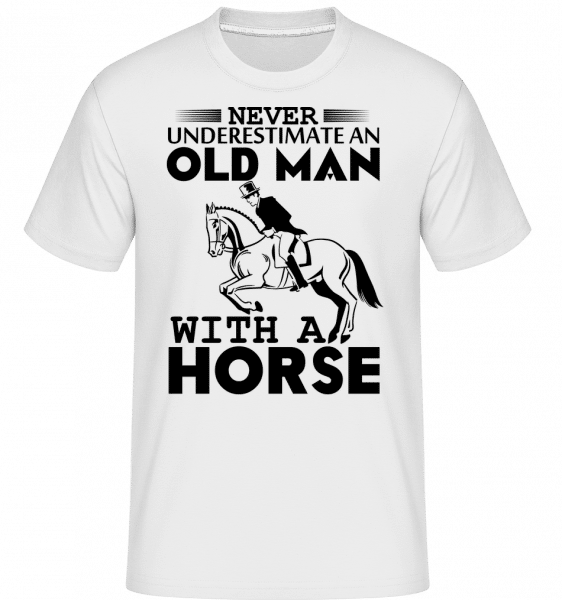 Old Man With Horse - Shirtinator Männer T-Shirt - Weiß - Vorn