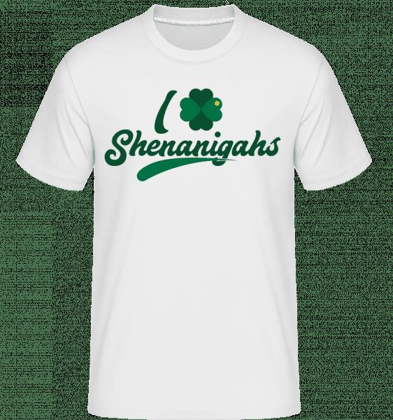 I Love Shenanigans -  Shirtinator tričko pro pány - Bílá - Napřed