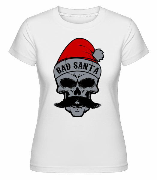 Bad Santa Skull -  Shirtinator Women's T-Shirt - White - Vorn