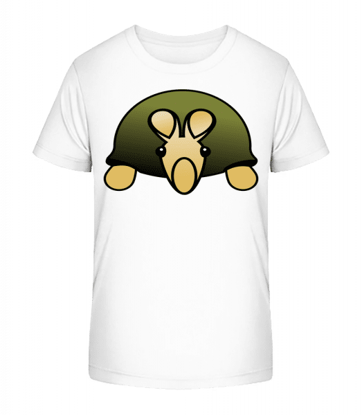 Turtle Comic - Detské Premium Bio tričko - Biela - Predné