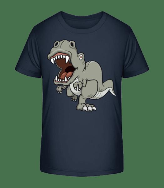 Dinosaur Comic Grey - T-shirt bio Premium Enfant - Bleu marine - Devant