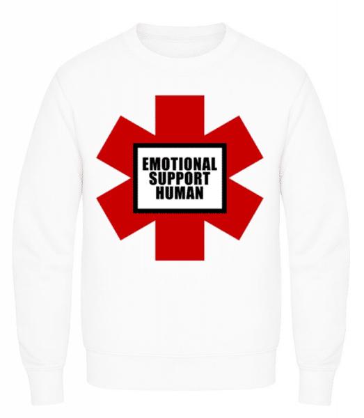 Emotional Support Human - Men's Sweatshirt - White - Front