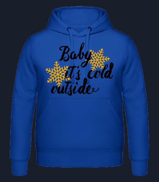 Baby It's Cold Outside - Men's hoodie - Royal blue - Vorn