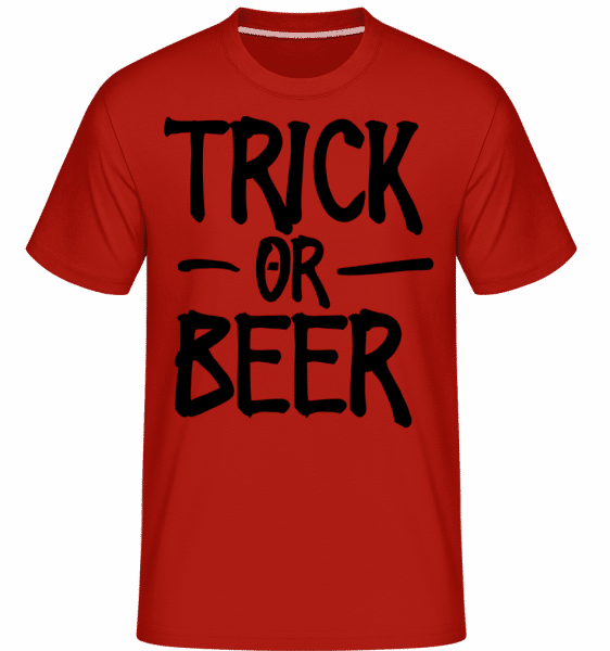 Trick Or Beer -  Shirtinator Men's T-Shirt - Red - Vorn