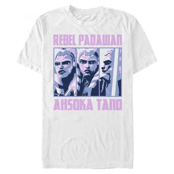 Ahsoka Rebel BoxUp - Star Wars Clone Wars - Men's T-Shirt - White - Front