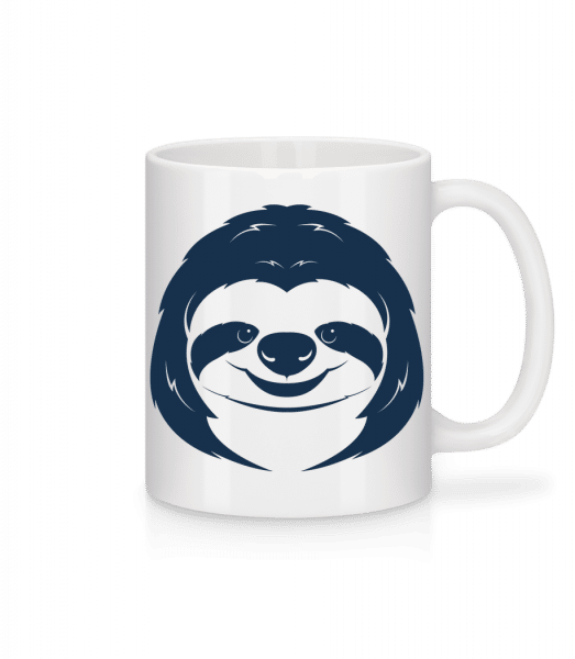 Cute Sloth Face - Mug - White - Front