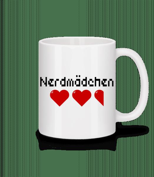 Nerdmädchen - Tasse - Weiß - Vorn