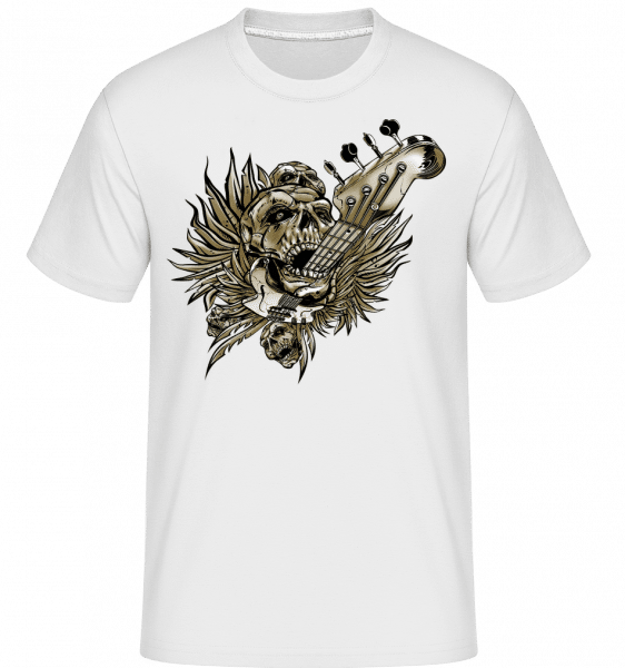 Death Of Guitars -  Shirtinator Men's T-Shirt - White - Vorn