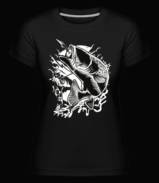 Fisherman - Shirtinator Frauen T-Shirt - Schwarz - Vorn