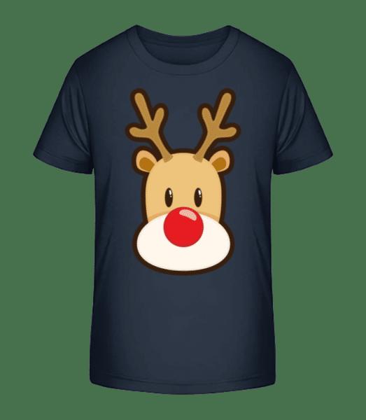 Reindeer Logo - Kid's Premium Bio T-Shirt - Navy - Vorn