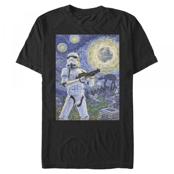 Stormy Night Stormtrooper - Star Wars - Men's T-Shirt - Black - Front
