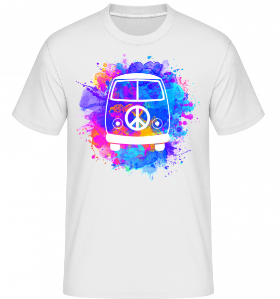 Hippie Bus -  Shirtinator Men's T-Shirt - White - Vorn