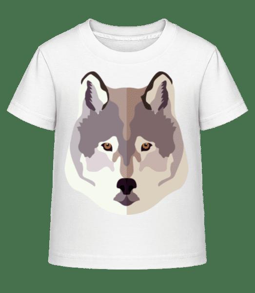 Vlk Comic Stín - Dĕtské Shirtinator tričko - Bílá - Napřed