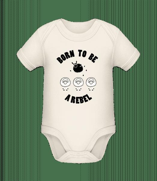 Born To Be A Rebel - Organic Baby Body - Cream - Vorn