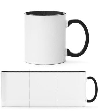 Tasse zweifarbig - Schwarz - Vorn