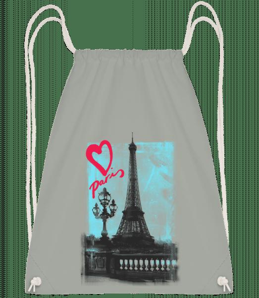 Paris love - Drawstring Backpack - Anthracite - Vorn