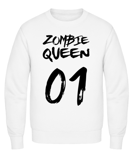 Zombie Queen - Classic Set-In Sweatshirt - White - Vorn