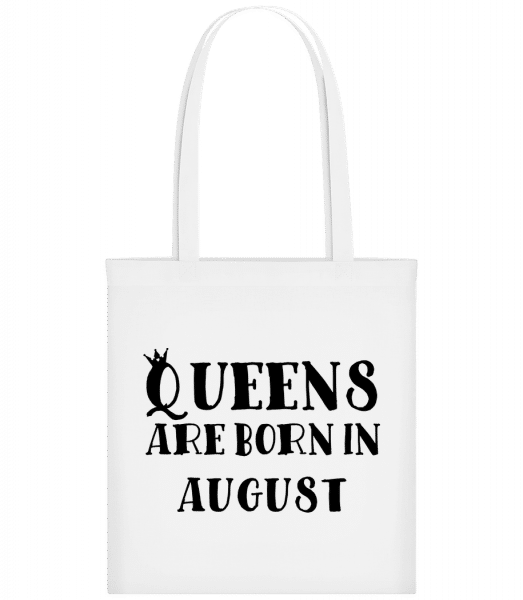 Queens Are Born In August - Sac tote - Blanc - Devant