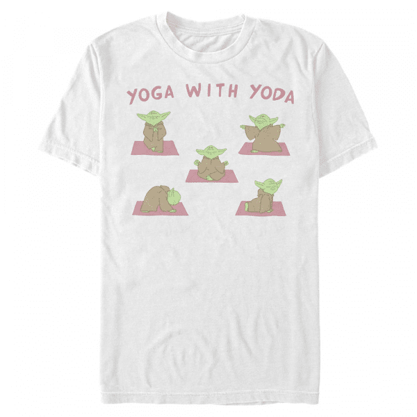 Yoga with Yoda - Star Wars - Men's T-Shirt - White - Front