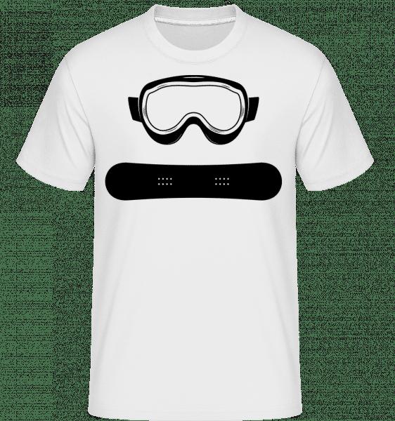 Snowboard Ausrüstung - Shirtinator Männer T-Shirt - Weiß - Vorn