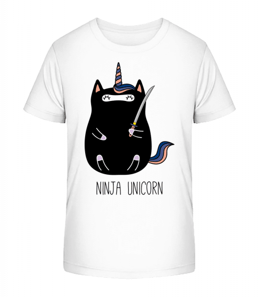 Ninja Unicorn - Kid's Premium Bio T-Shirt - White - Vorn