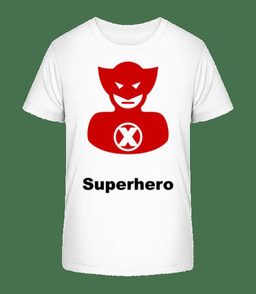 Superhero Icon Red - Kid's Premium Bio T-Shirt - White - Vorn