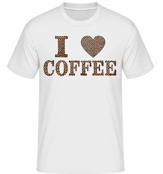 I Love Coffee -  Shirtinator Men's T-Shirt - White - Vorn