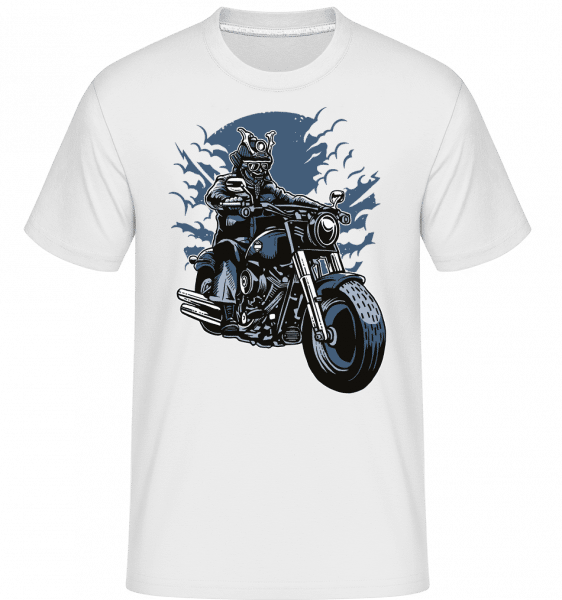 Samurai Ride -  Shirtinator tričko pro pány - Bílá - Napřed