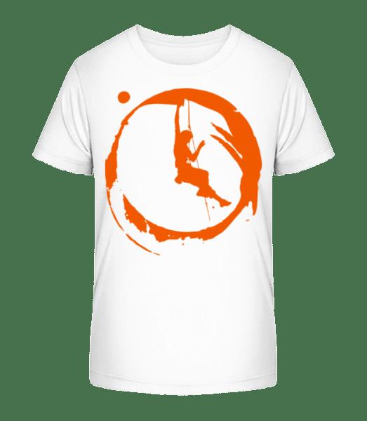 Climbing - Kid's Premium Bio T-Shirt - White - Vorn