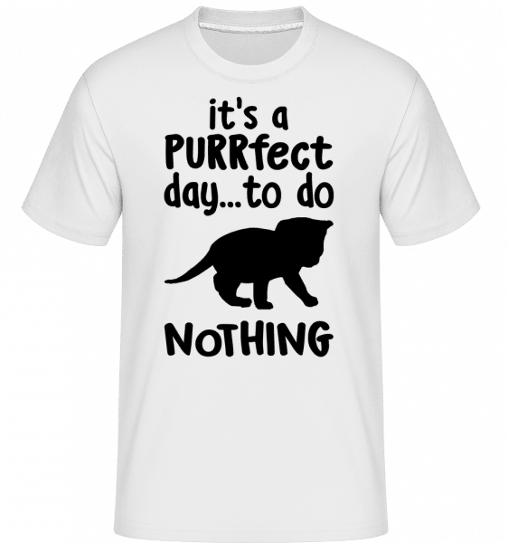 It's A Purrfect Day -  T-Shirt Shirtinator homme - Blanc - Vorn