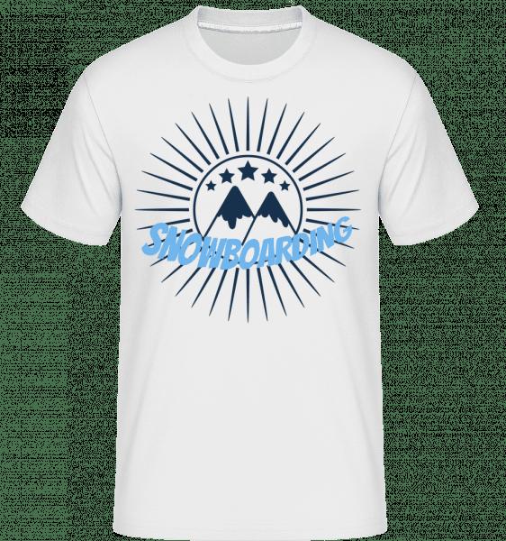 snowboarding Logo -  Shirtinator tričko pre pánov - Biela - Predné