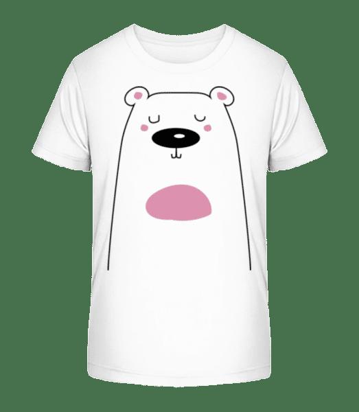 Cute Bear - Kid's Premium Bio T-Shirt - White - Vorn