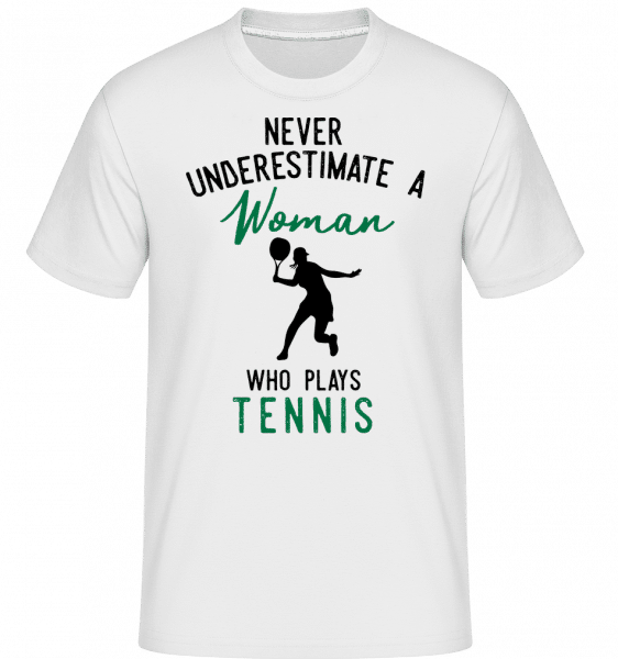 Never Underestimate A Woman -  Shirtinator Men's T-Shirt - White - Vorn