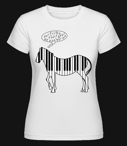 Piano Zebra -  Shirtinator Women's T-Shirt - White - Vorn