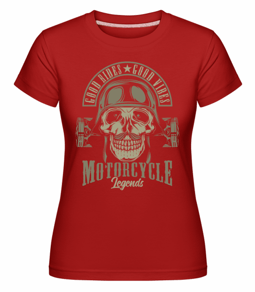 Good Rides Good Vibes -  Shirtinator Women's T-Shirt - Red - Vorn