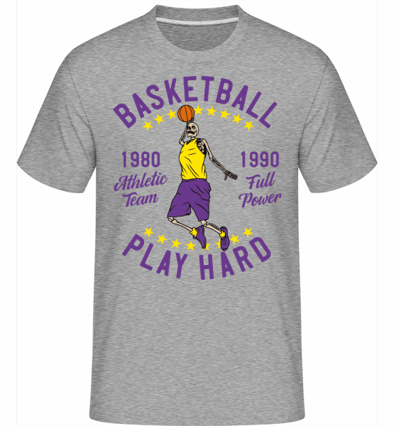 Play Hard -  Shirtinator Men's T-Shirt - Heather grey - Front