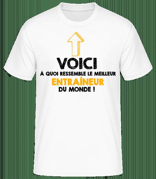 Le Meilleur Entraineur Du Monde - T-shirt standard Homme - Blanc - Vorn