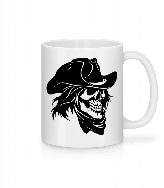 Pirate Skull - Mug - White - Vorn