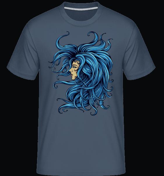 Lady In The Blue -  Shirtinator Men's T-Shirt - Denim - Vorn