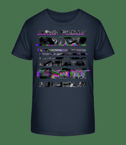Broken Image - Kid's Premium Bio T-Shirt - Navy - Vorn