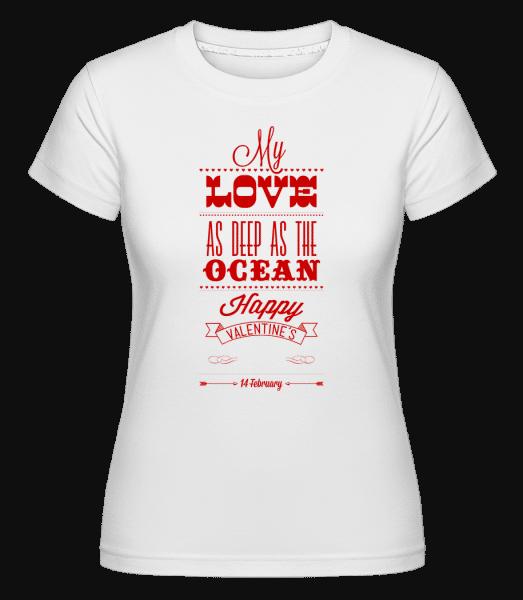 As Deep As The Ocean -  Shirtinator Women's T-Shirt - White - Vorn
