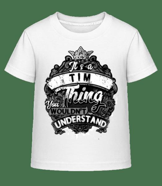 It's A Tim Thing - Kid's Shirtinator T-Shirt - White - Vorn