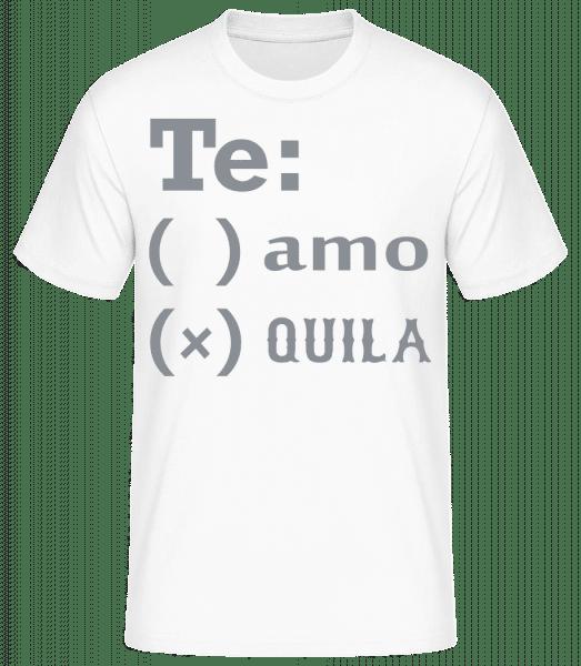 Te Amo Tequila - Männer Basic T-Shirt - Weiß - Vorn